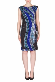 Joseph Ribkoff Crystal Ruched Dress - Front cropped
