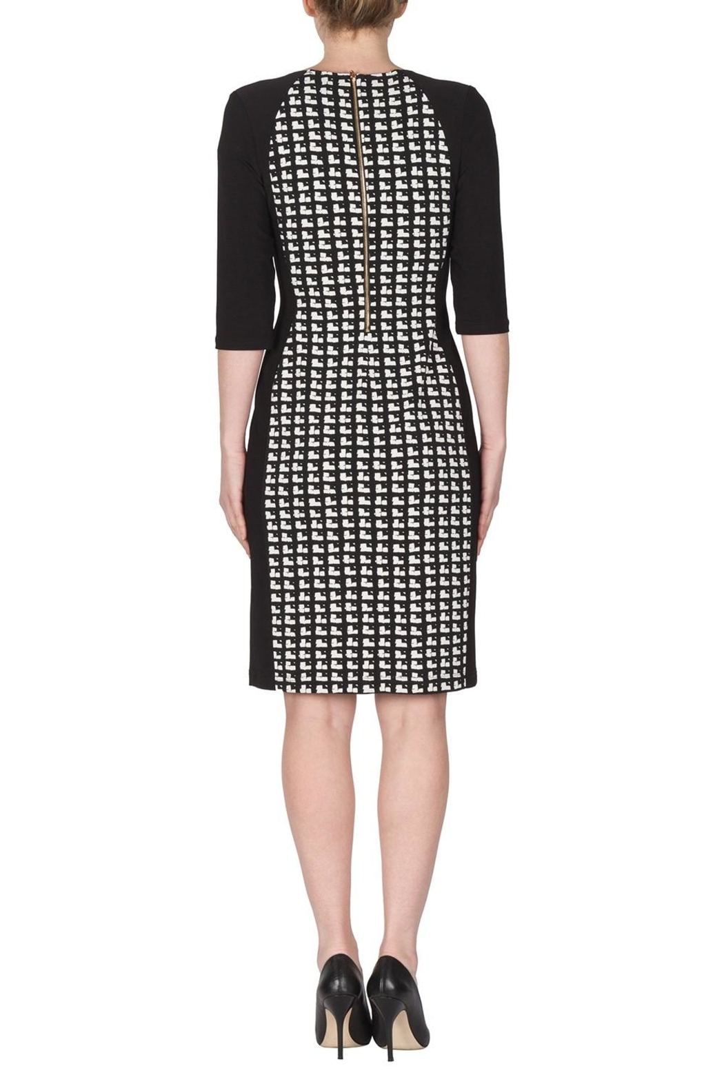 Joseph Ribkoff Cubic Pattern Dress - Side Cropped Image