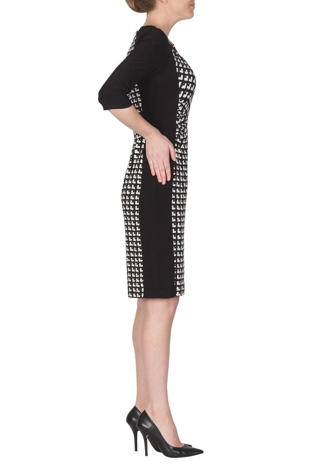 Joseph Ribkoff Cubic Pattern Dress - Front Full Image