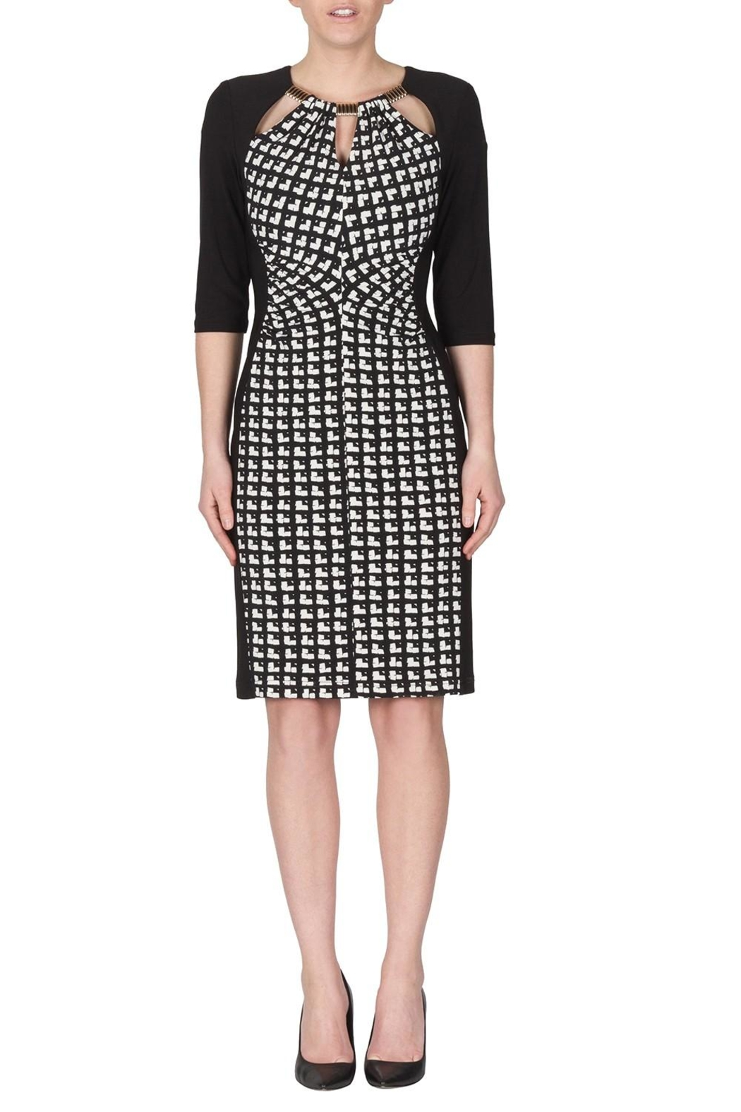 Joseph Ribkoff Cubic Pattern Dress - Front Cropped Image