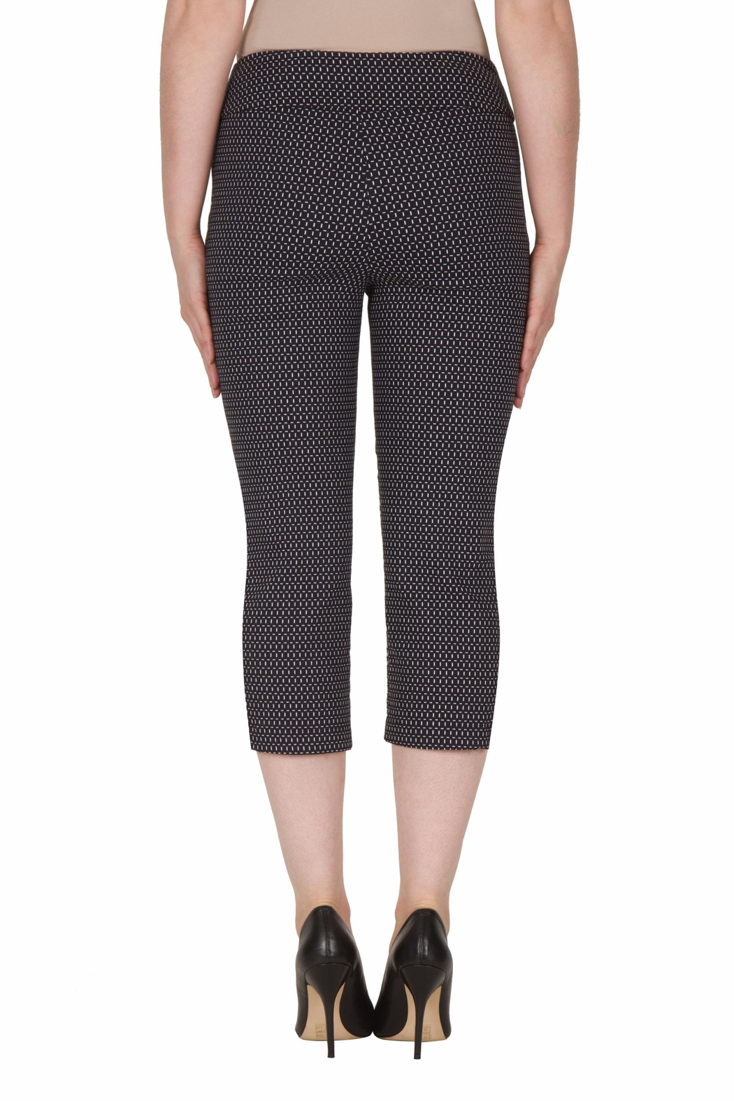 Joseph Ribkoff Cut Out Capri Pant - Side Cropped Image