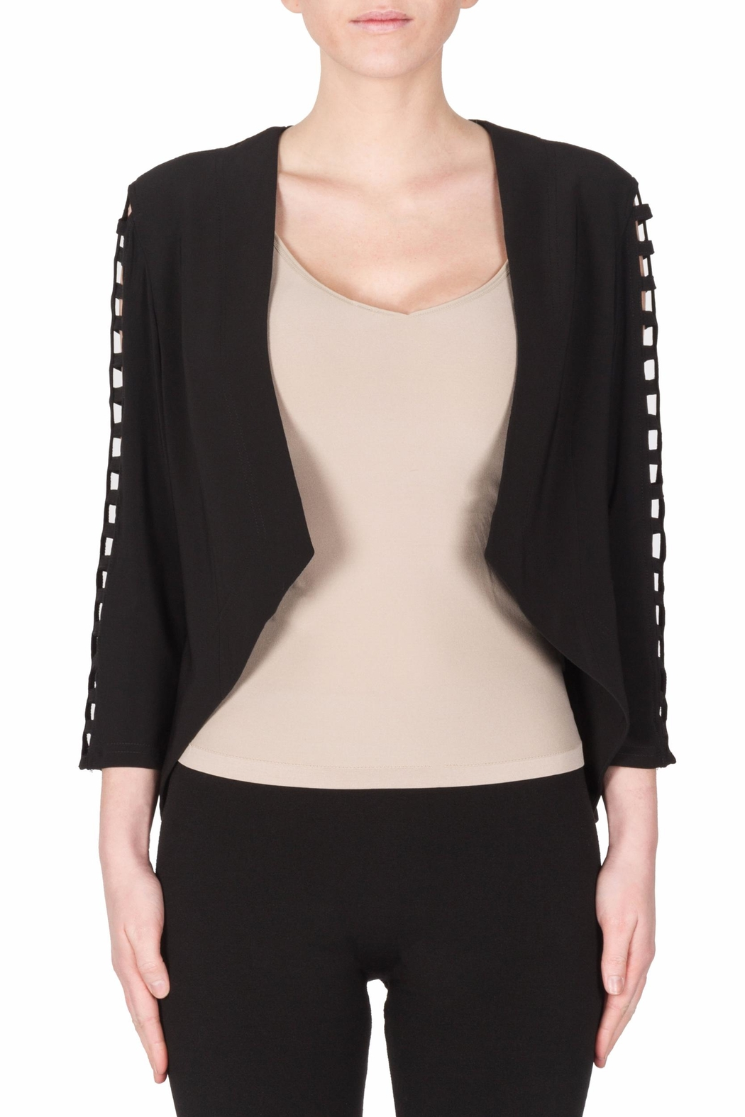 Joseph Ribkoff Cut Out Sleeves Blazer - Front Cropped Image