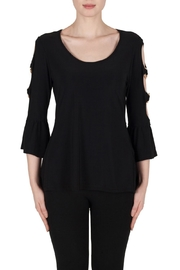 Joseph Ribkoff Cut Out Sleeve Top - Front cropped