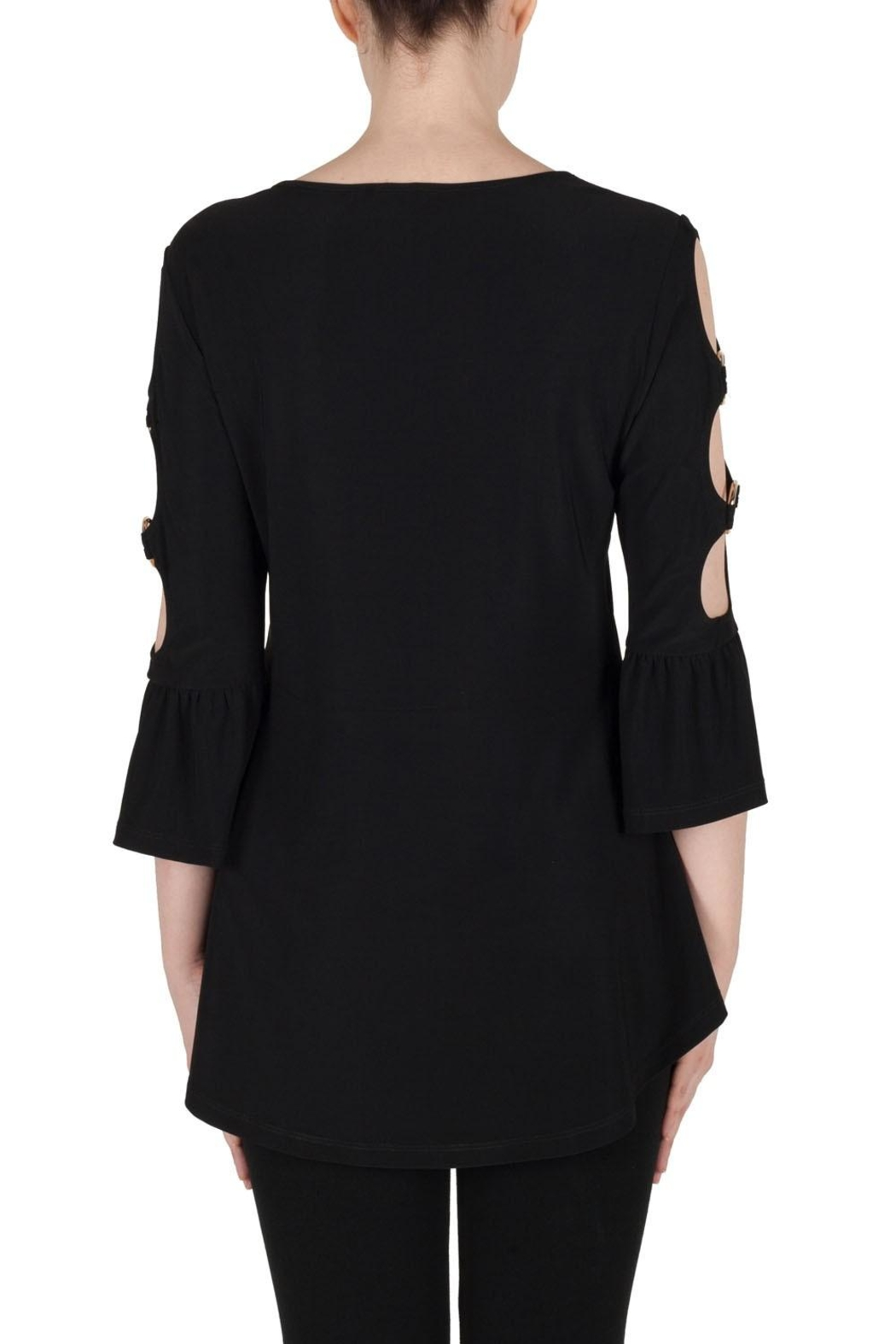 Joseph Ribkoff Cut Out Sleeve Top - Side Cropped Image