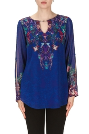 Joseph Ribkoff Damascus Pattern Top - Product Mini Image