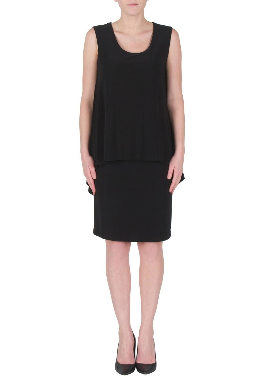 Joseph Ribkoff Draped Cocktail Dress - Front Cropped Image