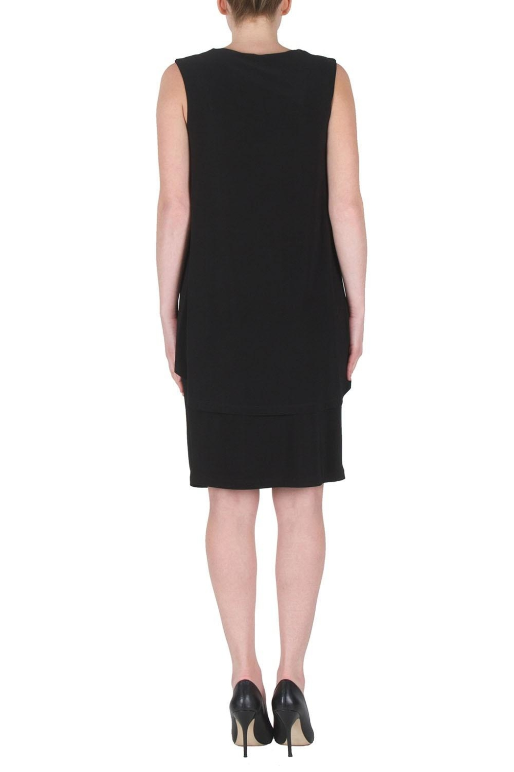 Joseph Ribkoff Draped Cocktail Dress - Side Cropped Image