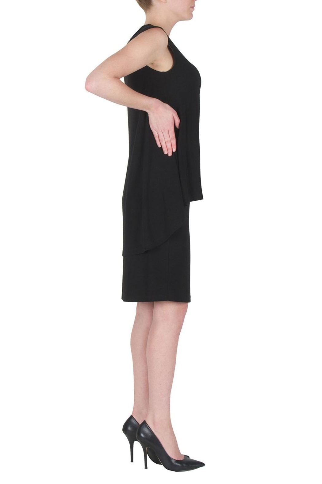 Joseph Ribkoff Draped Cocktail Dress - Front Full Image
