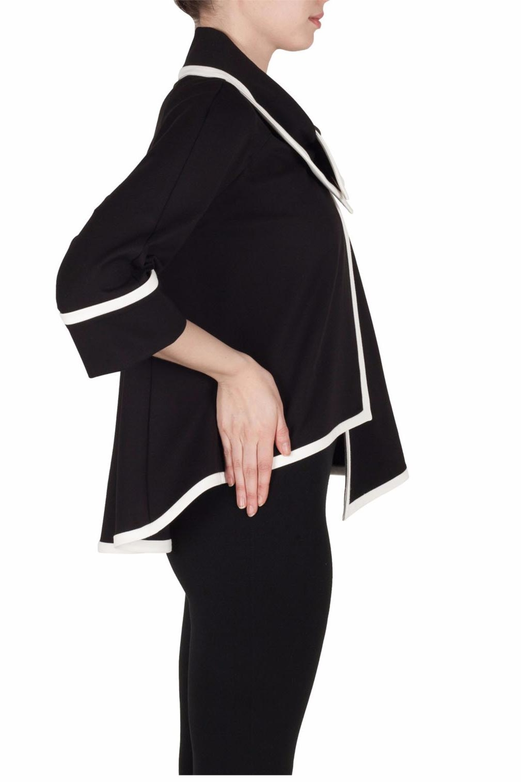 Joseph Ribkoff Elegant Black Jacket - Side Cropped Image