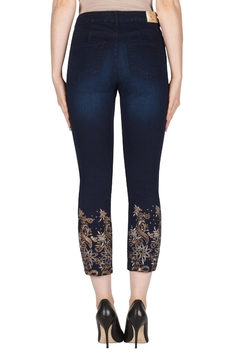 Joseph Ribkoff Embroidered Leg Jean - Alternate List Image