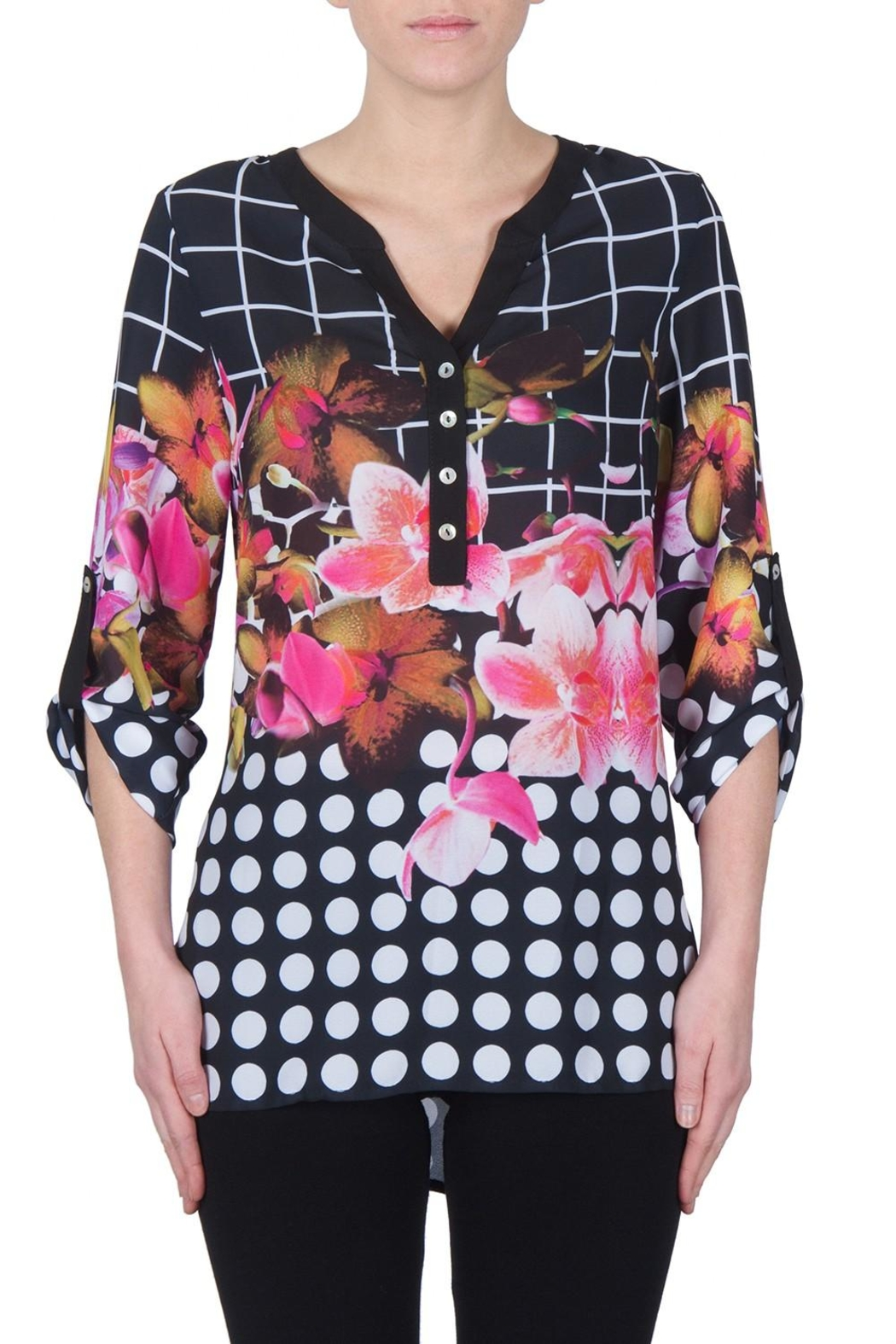 Joseph Ribkoff Exotic Print Tunic - Front Cropped Image