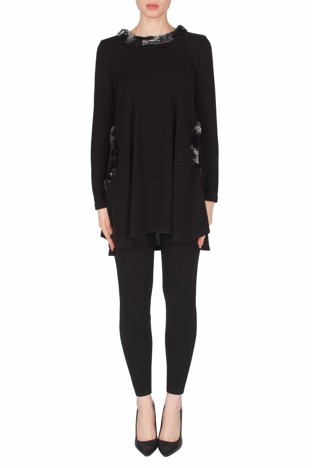 Joseph Ribkoff Faux Fur Tunic - Front Cropped Image