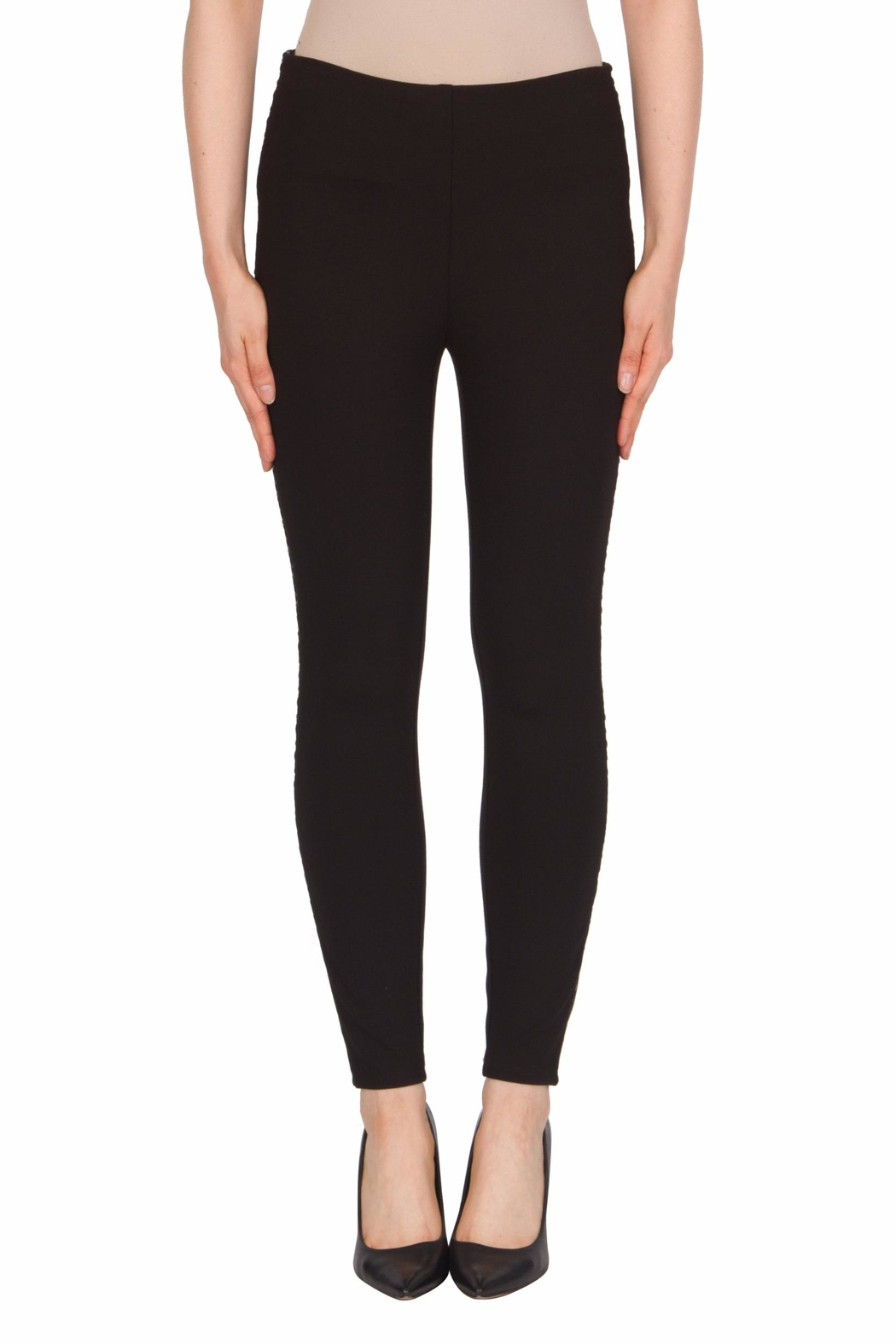 Joseph Ribkoff Faux-Leather Trimmed Pant - Main Image