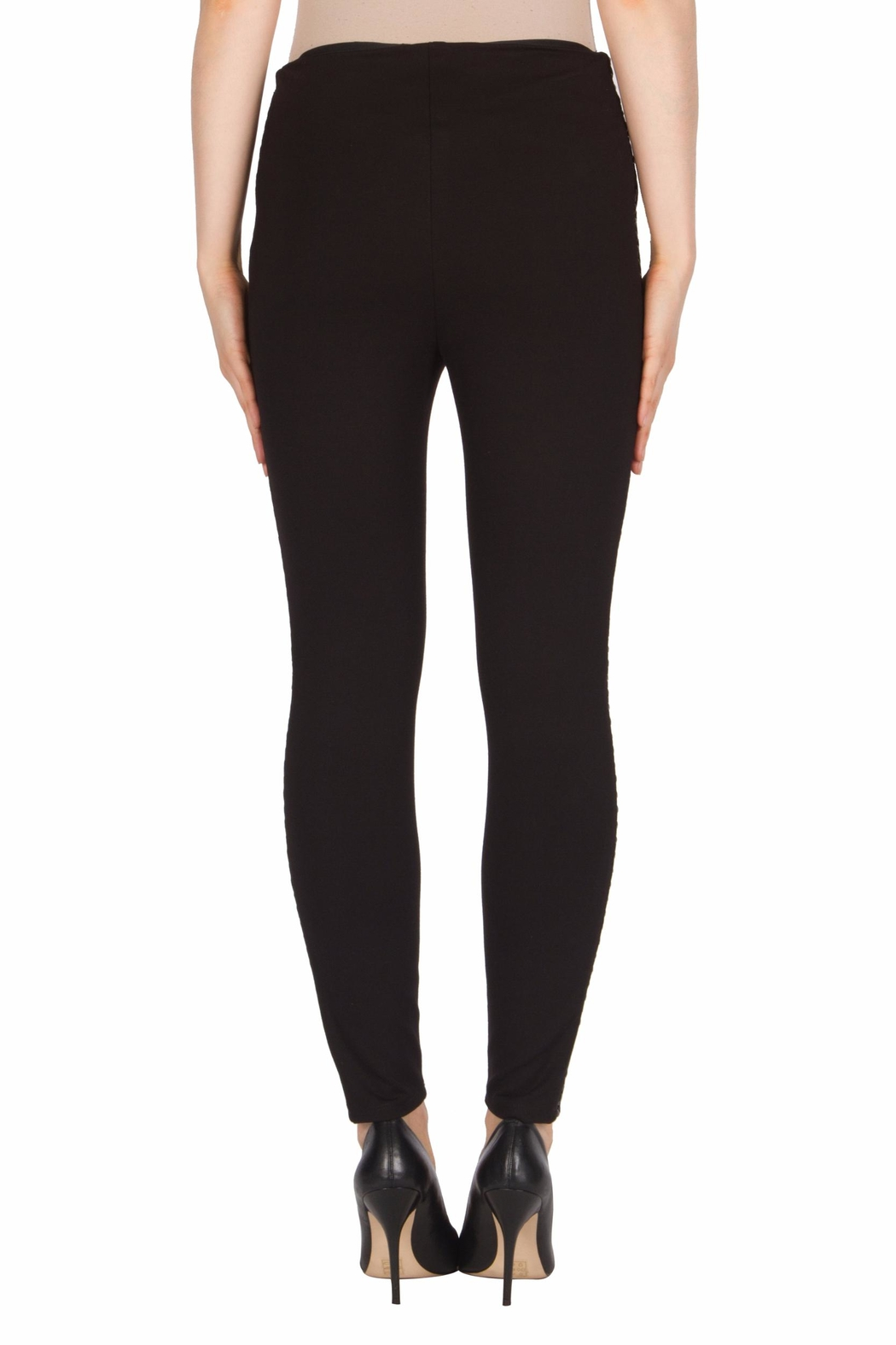 Joseph Ribkoff Faux-Leather Trimmed Pant - Side Cropped Image