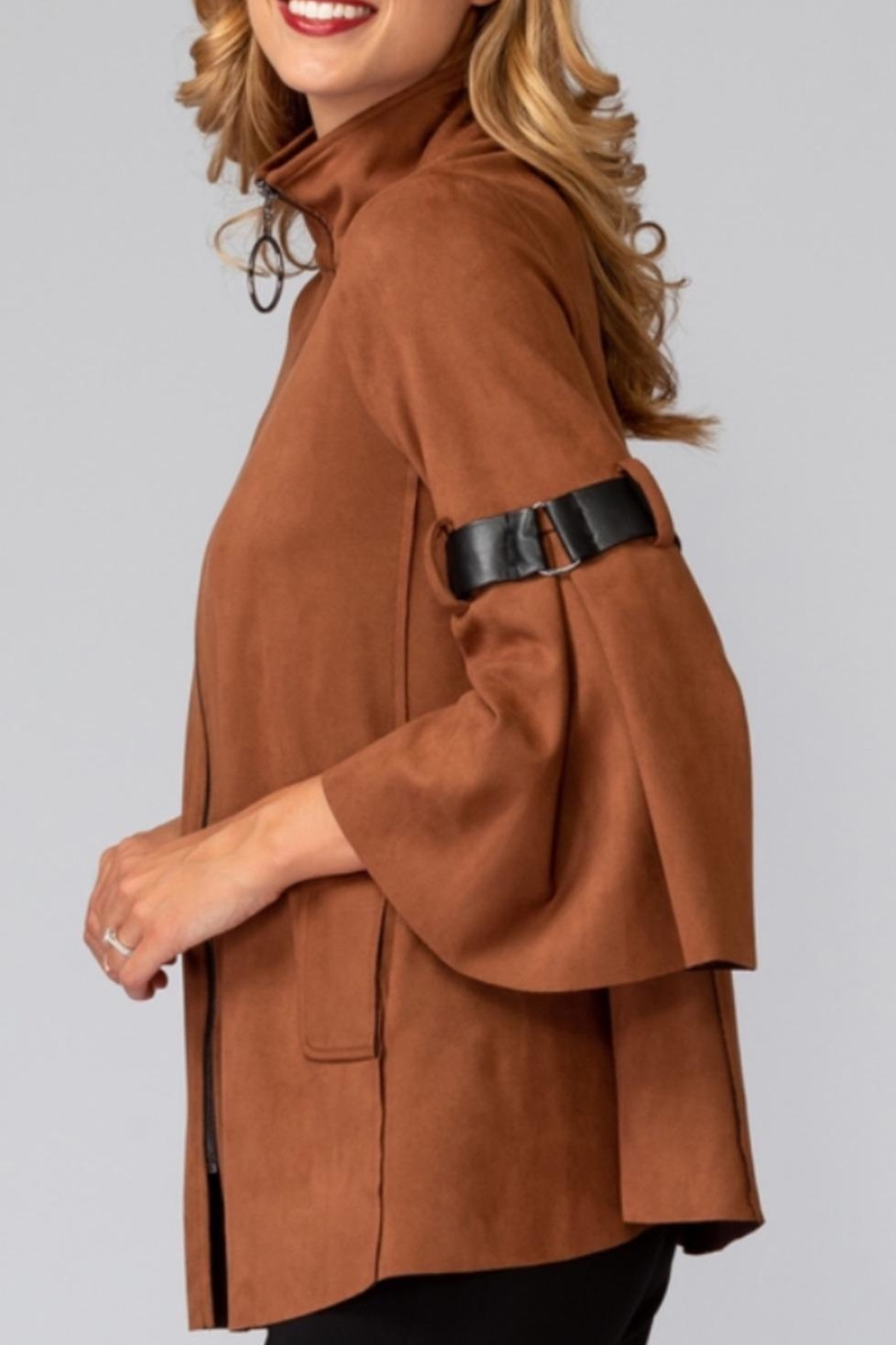 Joseph Ribkoff Faux Suede Jacket - Front Full Image