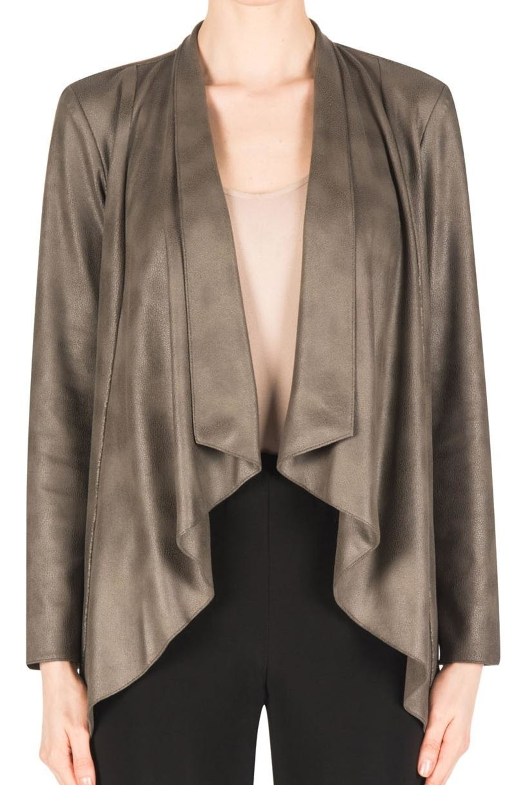 Joseph Ribkoff Faux Suede Jacket - Front Cropped Image