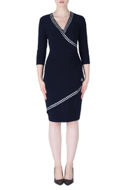 Joseph Ribkoff Blue Faux Wrap Dress - Product Mini Image