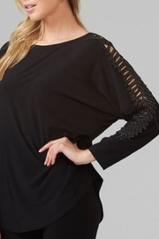 Joseph Ribkoff Feather Cut Out Sleeve Top - Product Mini Image