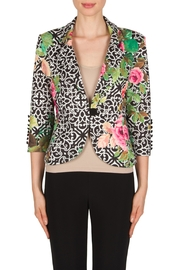 Joseph Ribkoff Filagree Floral Jacket - Front cropped