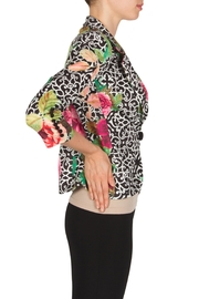 Joseph Ribkoff Filagree Floral Jacket - Front full body