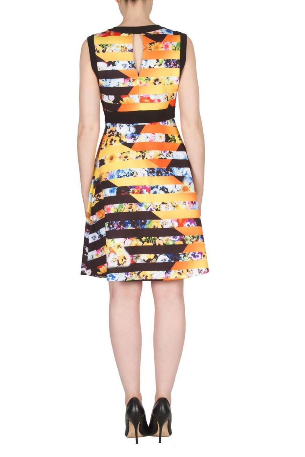 Joseph Ribkoff Fit Flare Banded Dress - Side Cropped Image