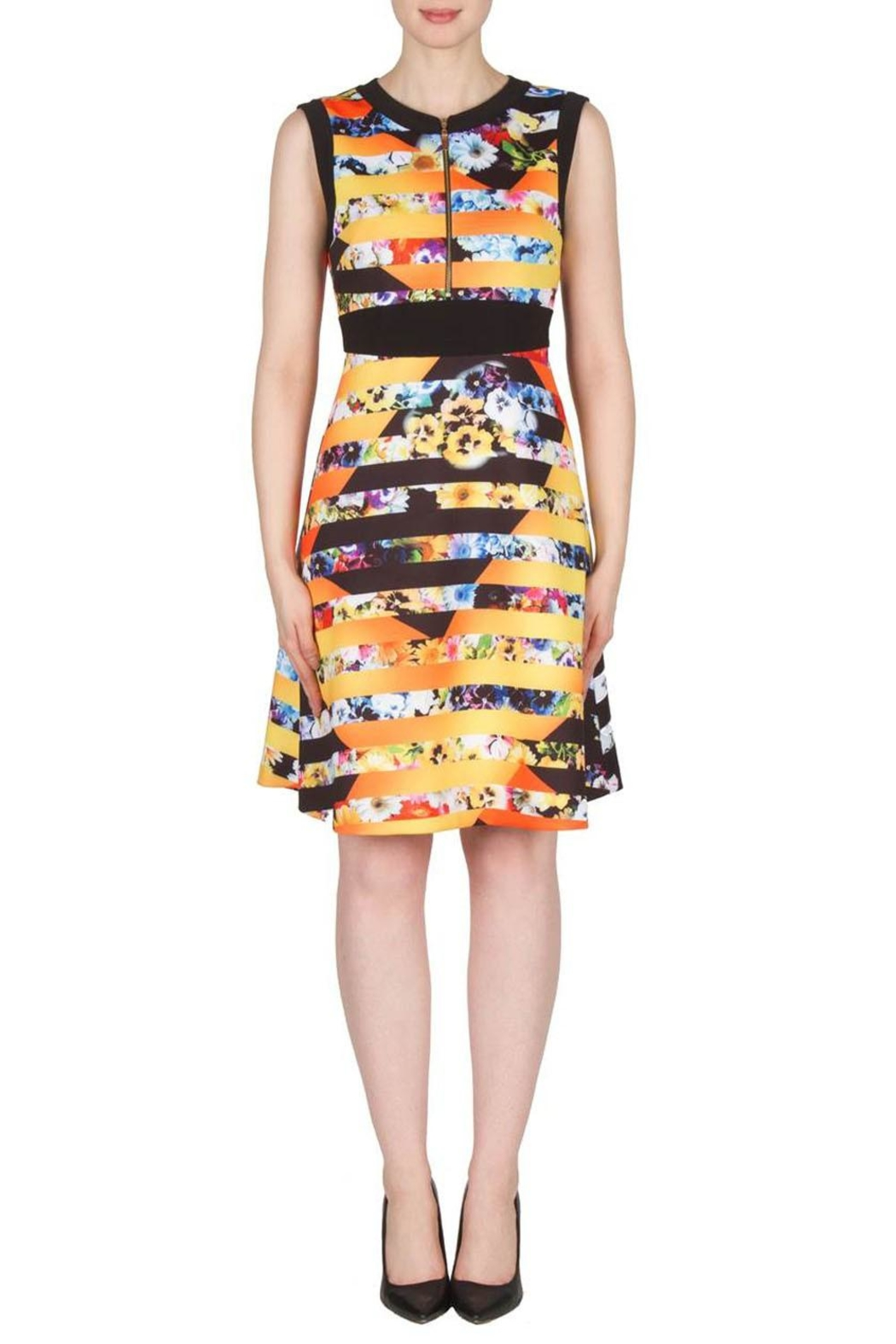Joseph Ribkoff Fit Flare Banded Dress - Main Image