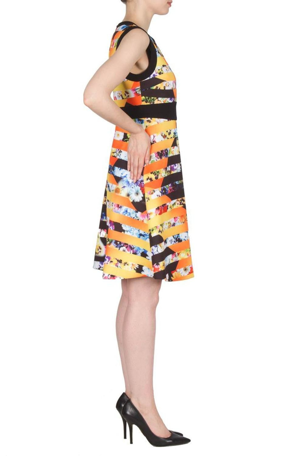 Joseph Ribkoff Fit Flare Banded Dress - Front Full Image