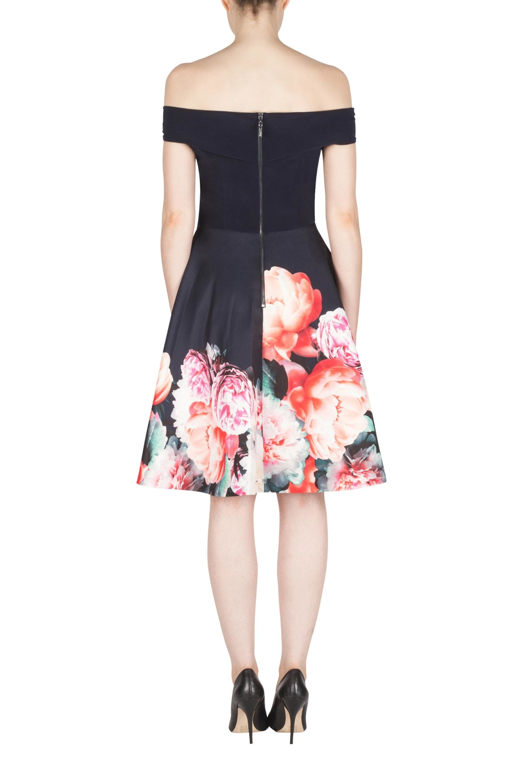 Joseph Ribkoff Fit-And-Flare Floral Dress - Side Cropped Image