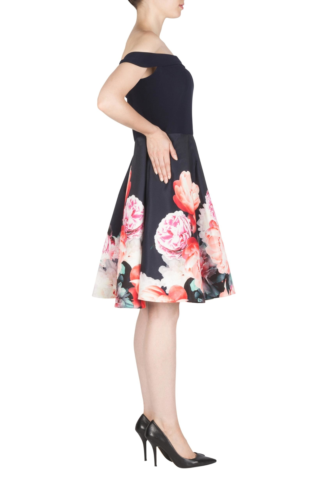 Joseph Ribkoff Fit-And-Flare Floral Dress - Front Full Image