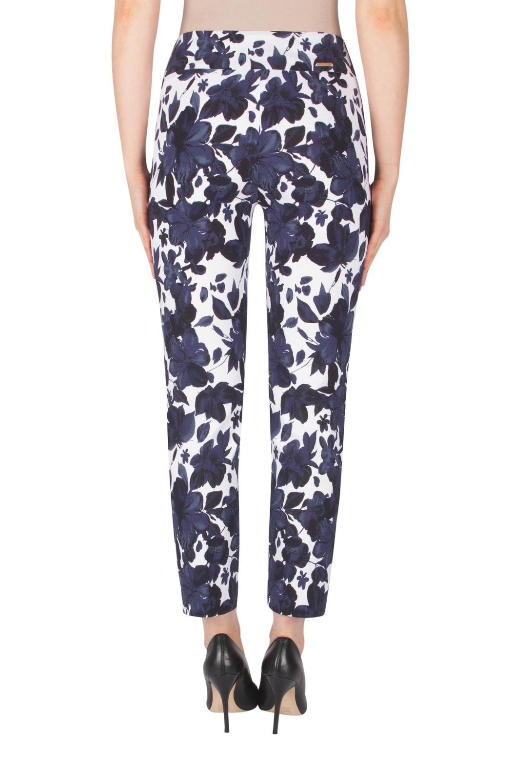 Joseph Ribkoff Fitted Floral Pant - Side Cropped Image