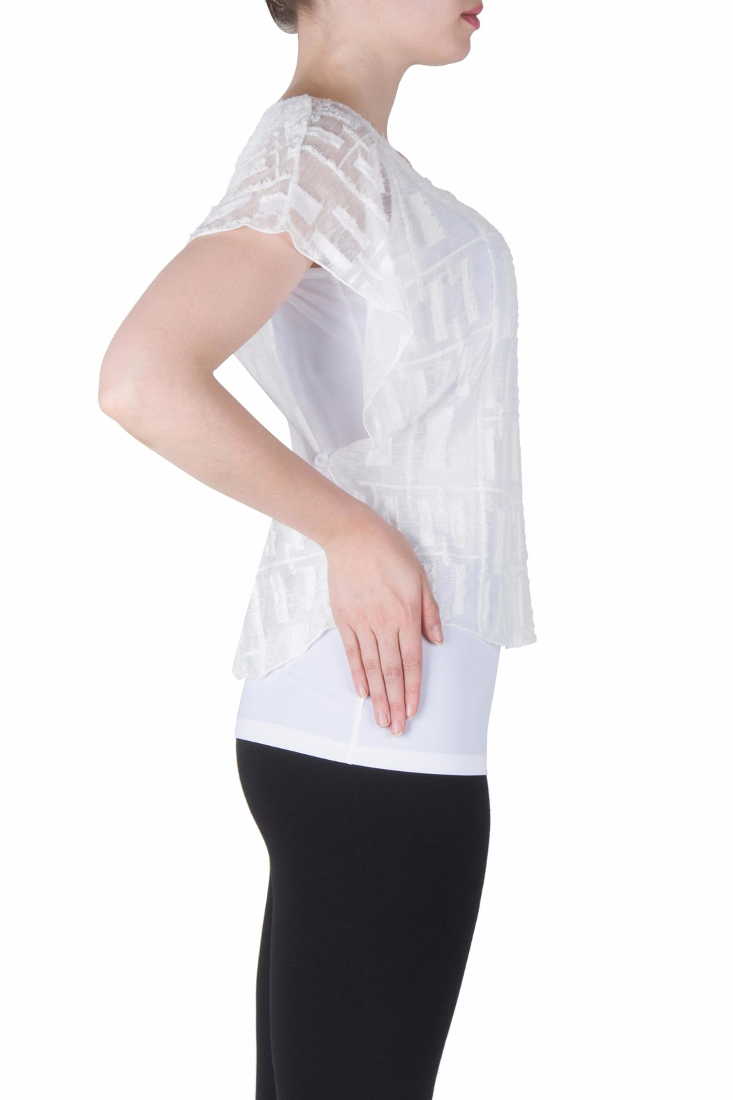 Joseph Ribkoff Fitted Layer Top - Back Cropped Image