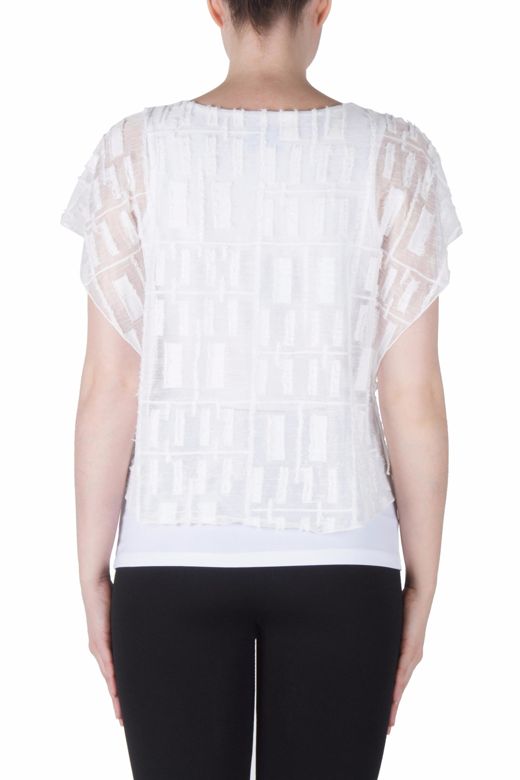 Joseph Ribkoff Fitted Layer Top - Side Cropped Image