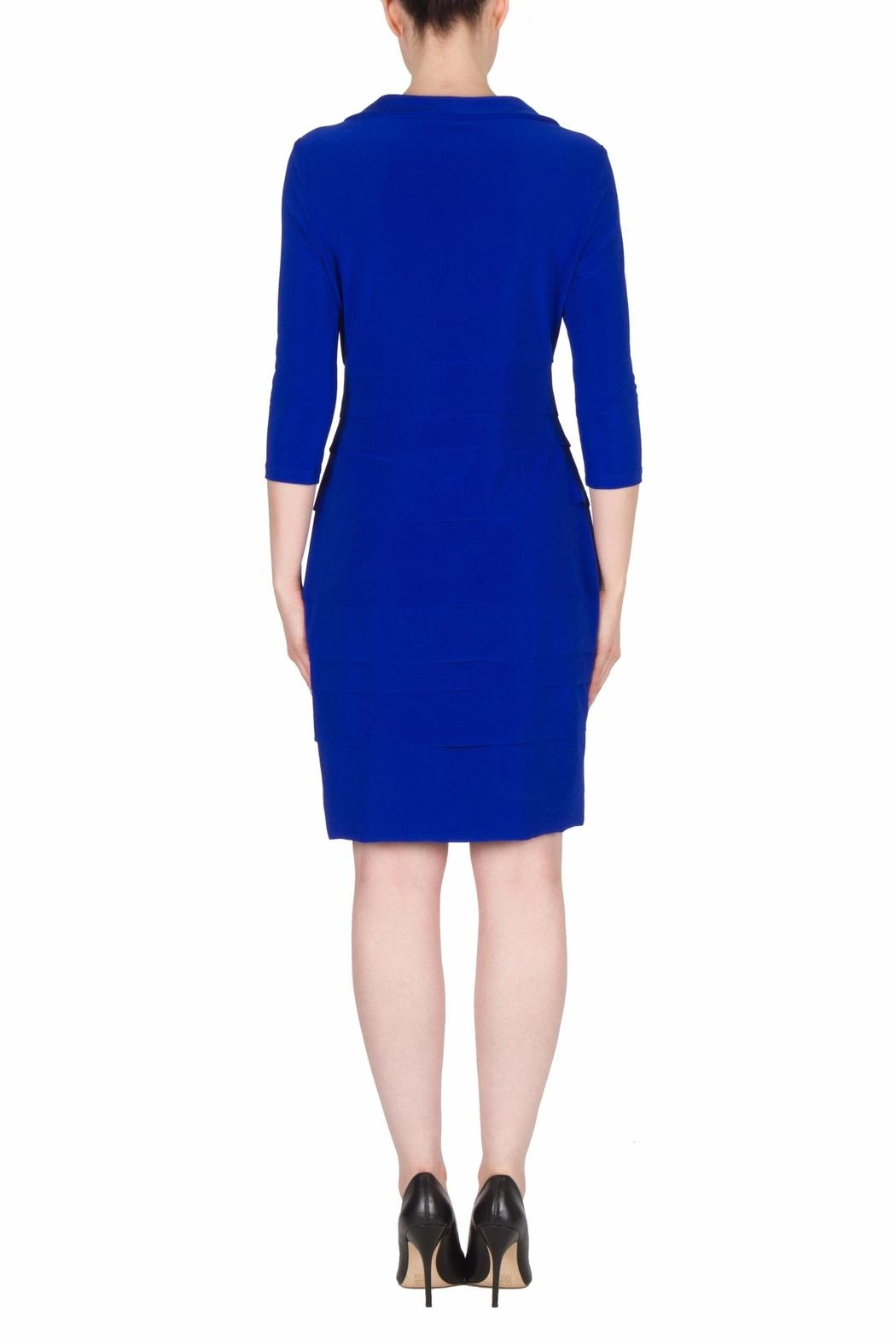 Joseph Ribkoff Fitted Layer Dress - Side Cropped Image