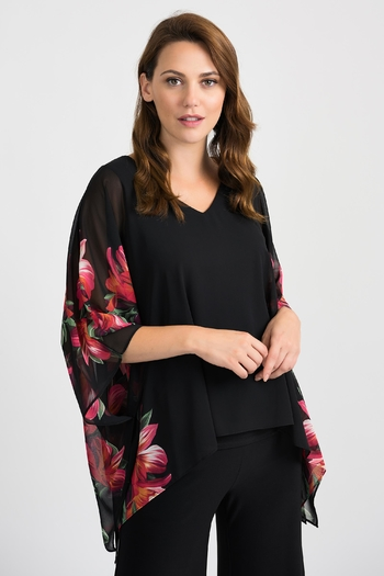 Joseph Ribkoff Floral Fluttery Top from Pittsburgh by Shirley Shoppe — Shoptiques