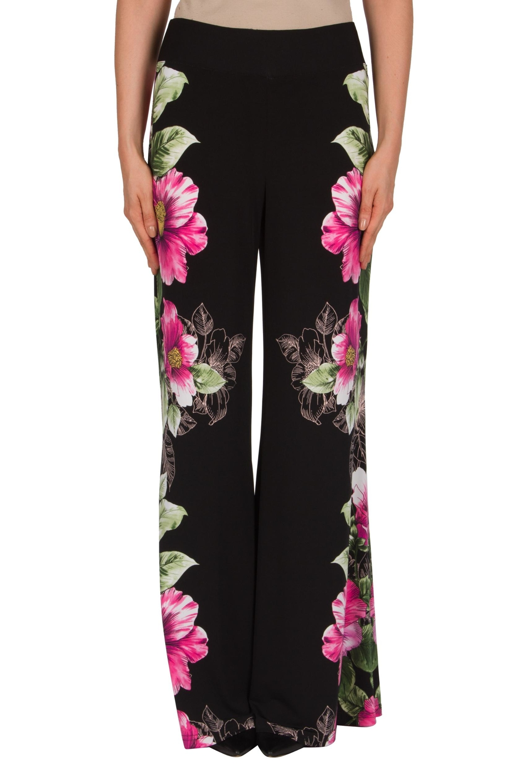 Joseph Ribkoff Floral Motif Pant - Front Cropped Image