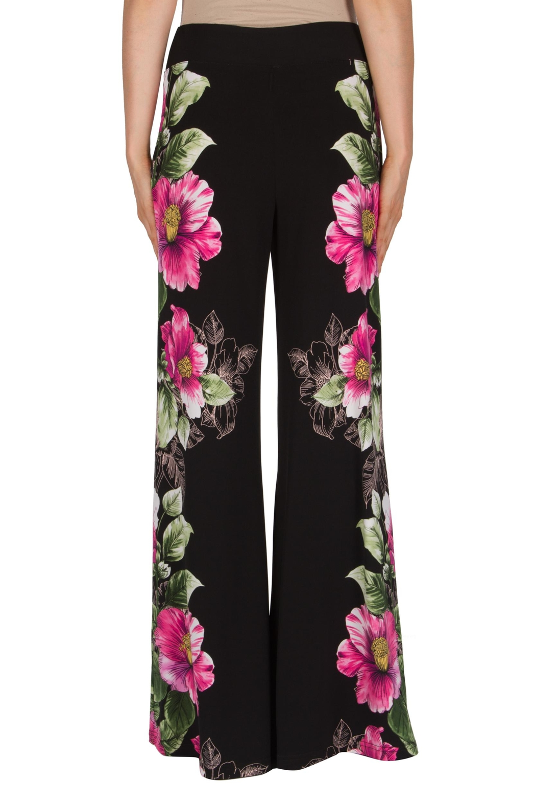 Joseph Ribkoff Floral Motif Pant - Side Cropped Image
