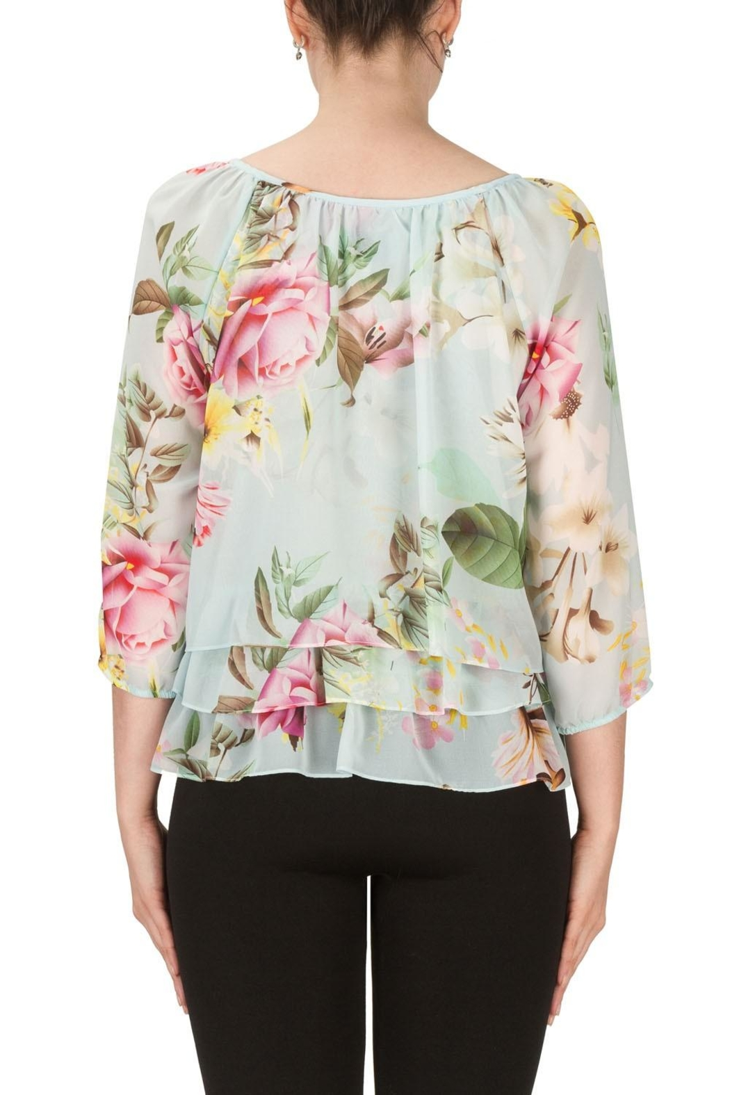 Joseph Ribkoff Floral Top - Side Cropped Image