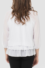 Joseph Ribkoff Floral White Top - Side cropped