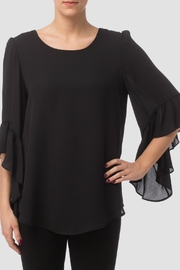 Joseph Ribkoff Flounce Black Blouse - Product Mini Image