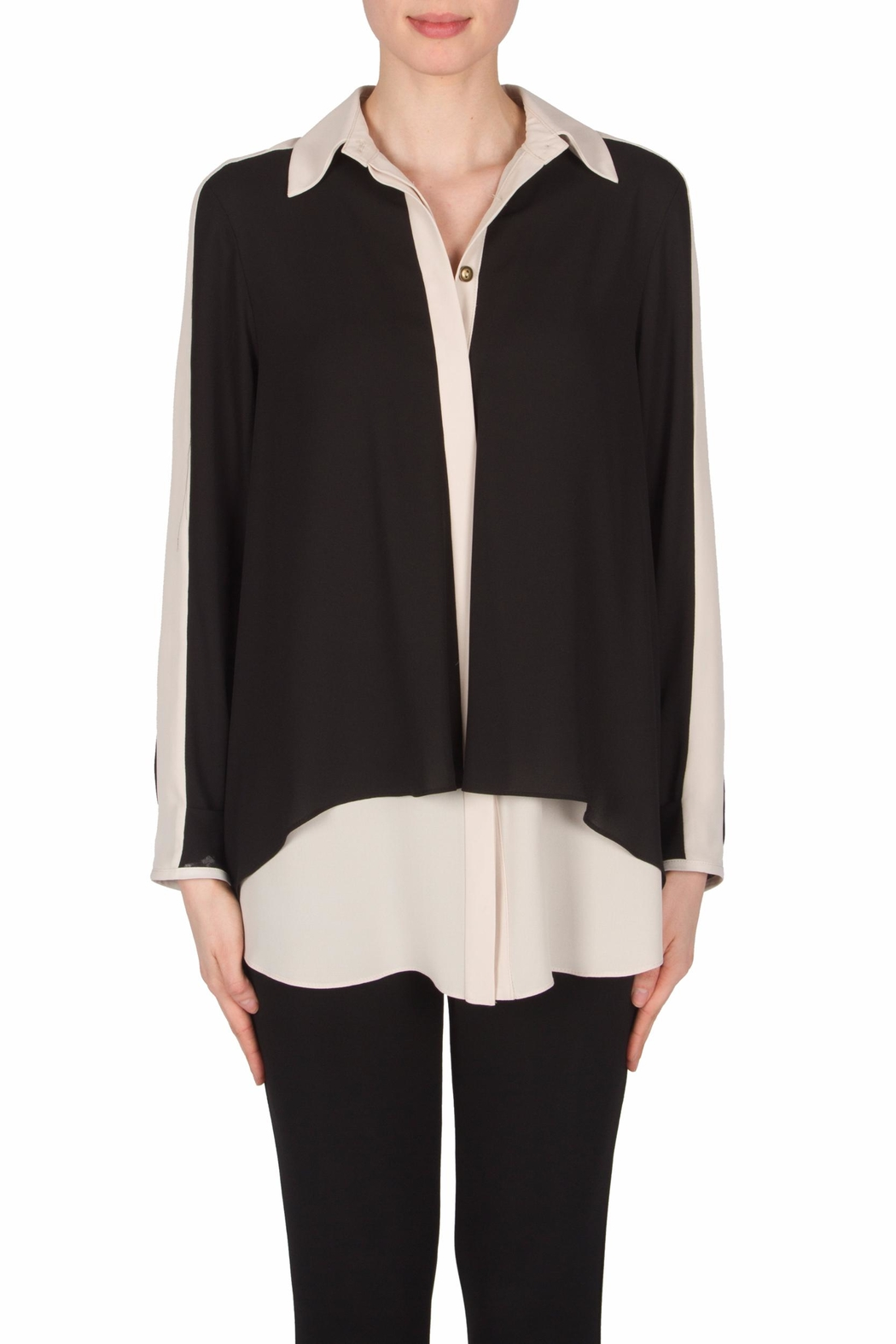 Joseph Ribkoff Flowy Tunic Blouse - Front Cropped Image