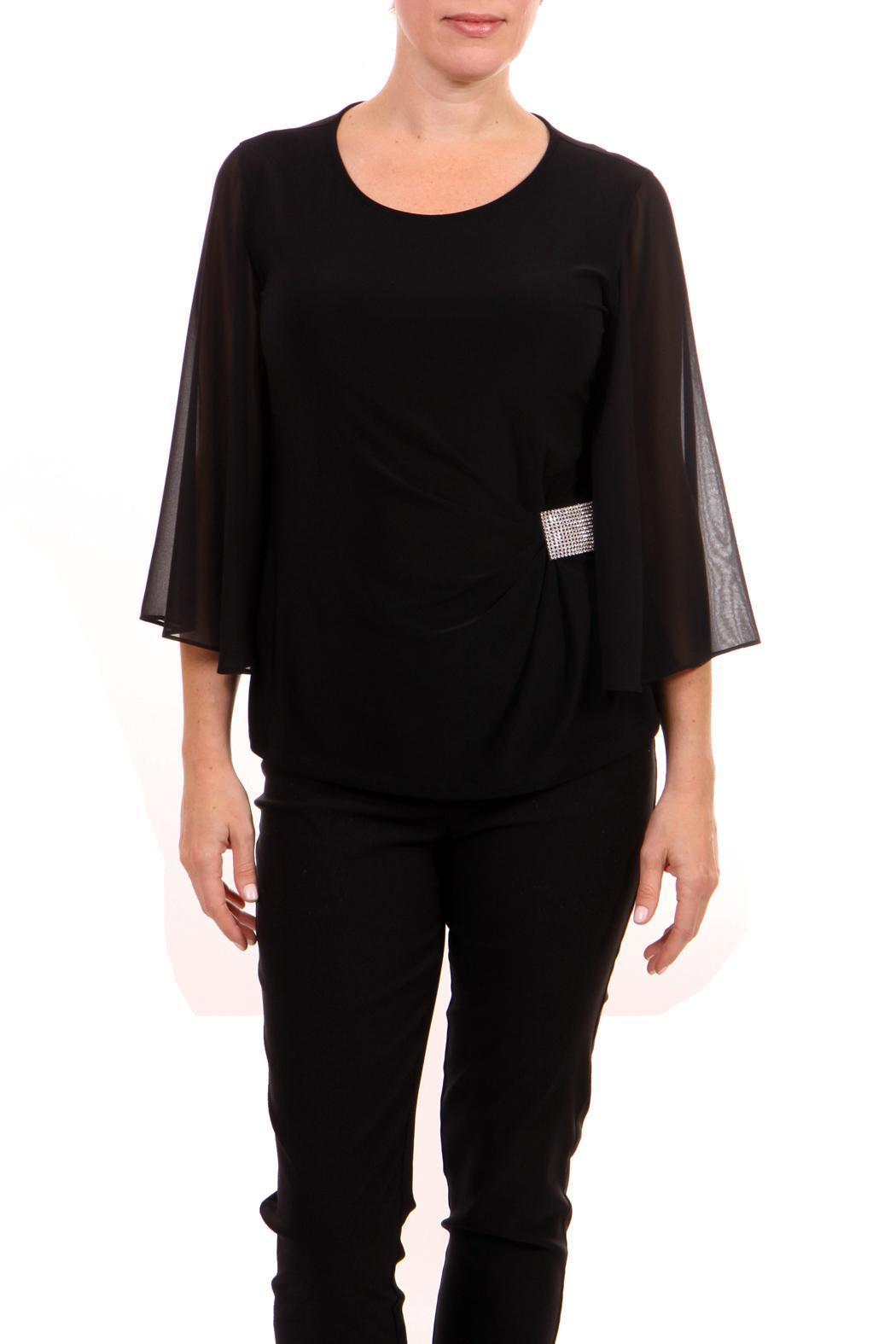 Joseph Ribkoff Flutter Sleeve Top - Side Cropped Image