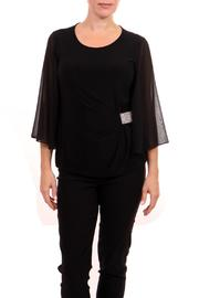 Joseph Ribkoff Flutter Sleeve Top - Side cropped