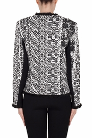 Joseph Ribkoff Fringe Trimmed Jacket - Side cropped