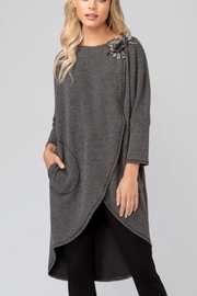 Joseph Ribkoff Fun Grey Tunic - Product Mini Image