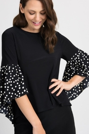 Joseph Ribkoff Fun Polka Dot Top - Product Mini Image
