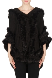 Joseph Ribkoff Fur Knit Poncho - Product Mini Image