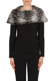 Joseph Ribkoff Fur Top - Front cropped