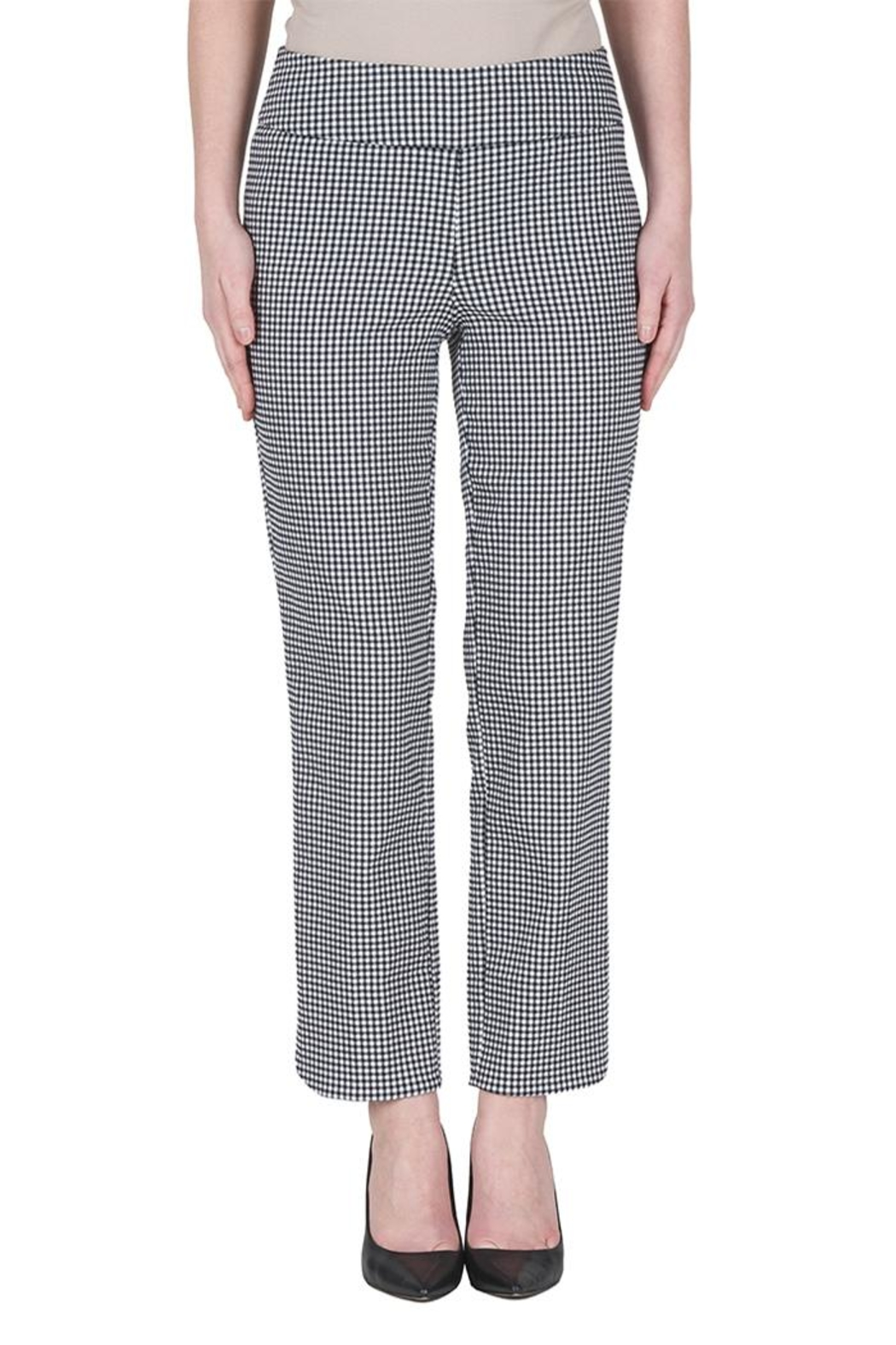 Joseph Ribkoff Gingham Ankle Pants - Front Cropped Image