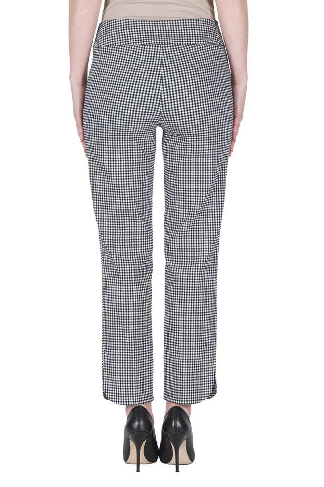 Joseph Ribkoff Gingham Ankle Pants - Side Cropped Image