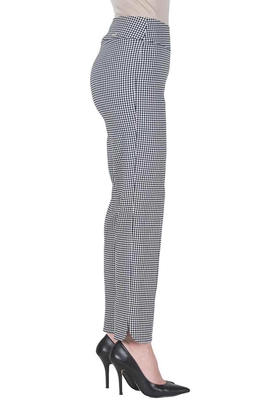 Joseph Ribkoff Gingham Ankle Pants - Front Full Image